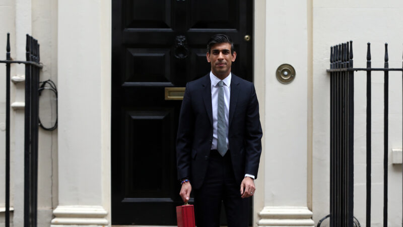 Picture of Chancellor Rishi Sunak outside 11 Downing Street